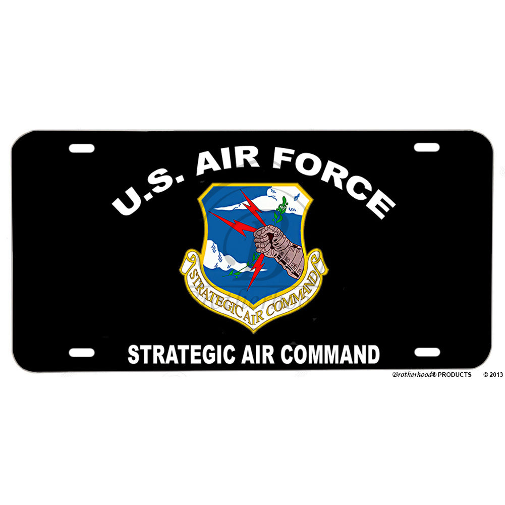 United States Air Force Strategic Air Command Aluminum License Plate
