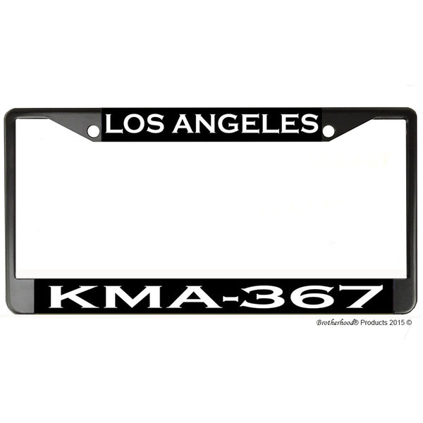 Los Angeles Police Department Radio Call Sign KMA-367 Metal License Plate Frame