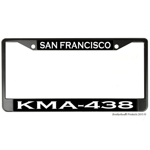 San Francisco Police Department Radio Call Sign KMA-438 Metal License Plate Frame