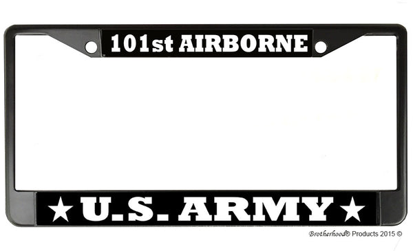 US Army 101st Airborne License Plate Frame