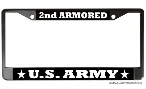 US Army 2nd Armored License Plate Frame