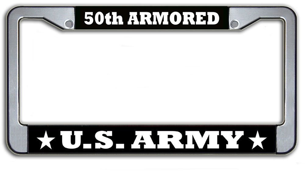 US Army 50th Armored License Plate Frame