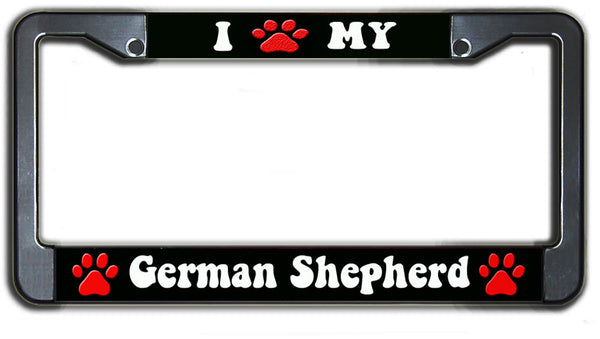 I Paw My German Sheperd License Plate Frame
