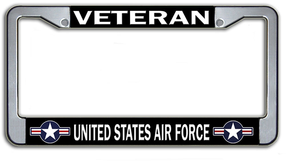 Veteran United States Air Force License Plate Frame | Military Gifts ...