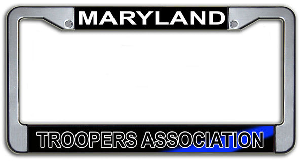 Maryland Troopers Association License Plate Frame Chrome or Black