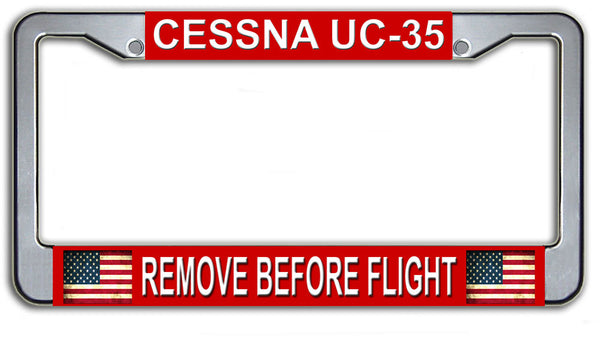 US Air Force Cessna UC-35 Remove Before Flight License Plate Frame