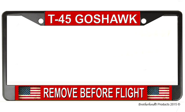 T-45 Goshawk Remove Before Flight License Plate Frame