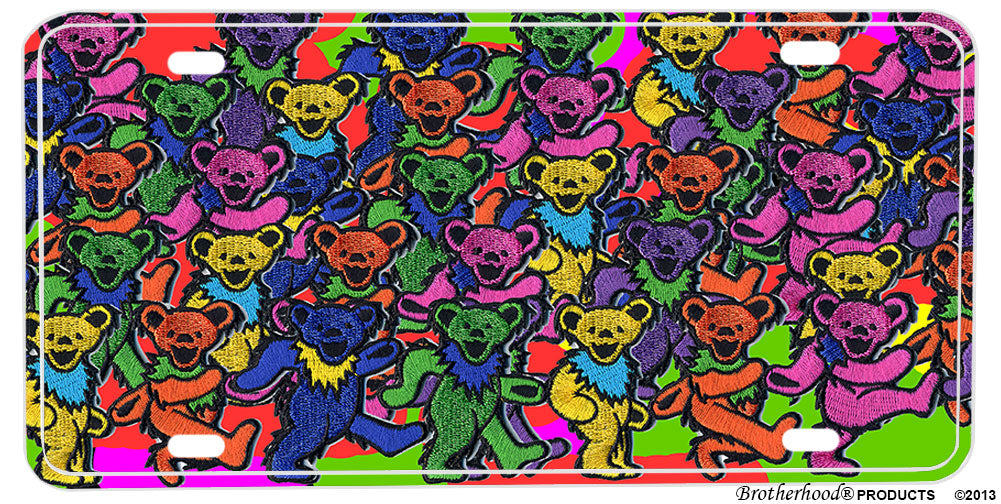 Grateful Dead Dancing Bears Aluminum License plate