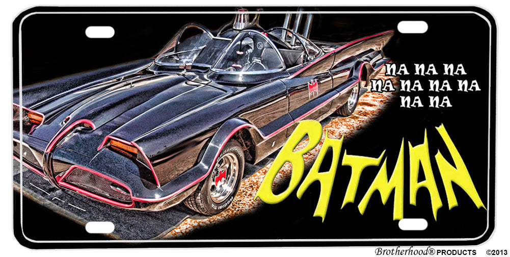 Batman Batmobile Aluminum License plate