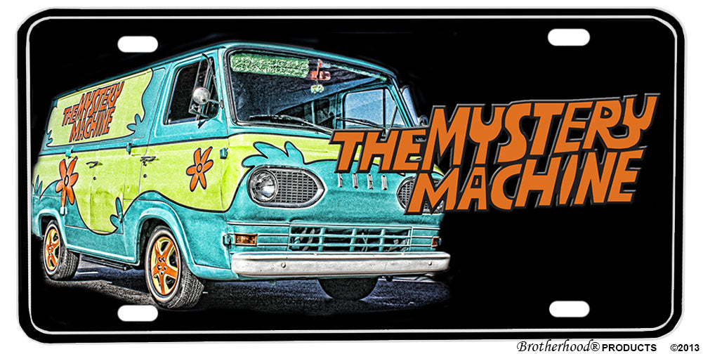 Scooby Doo The Mystery Machine Van Aluminum License plate