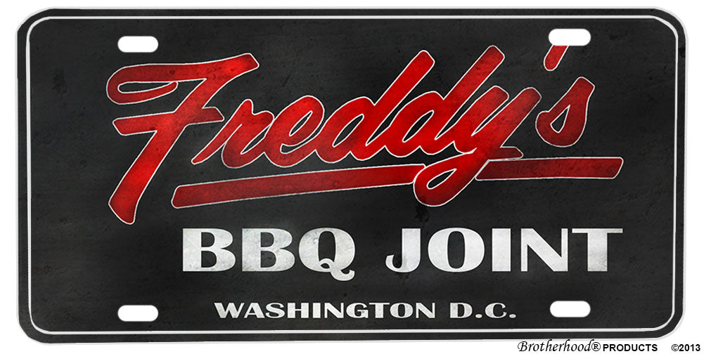 House of Cards Freddy's BBQ Joint Aluminum License plate
