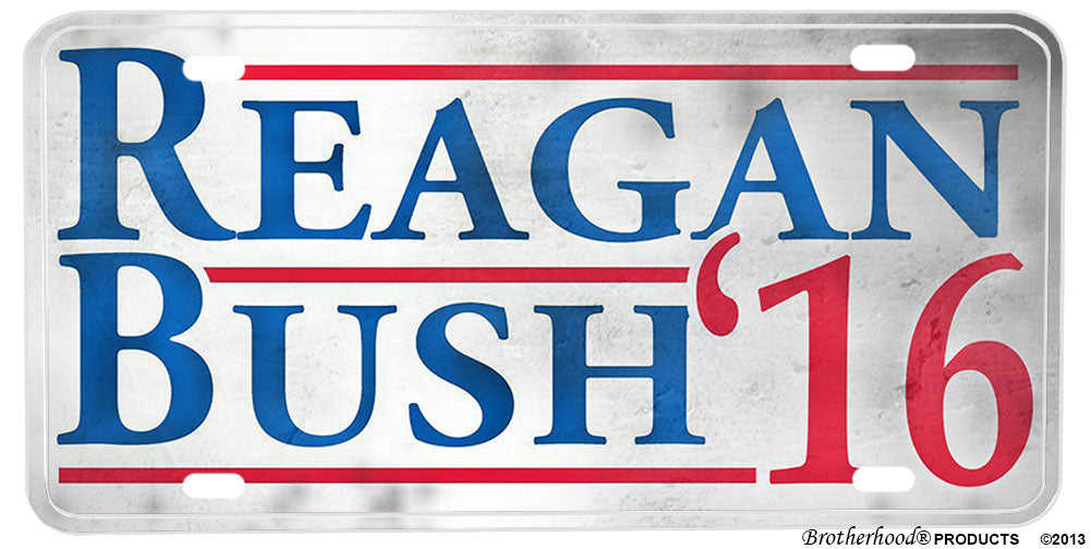 Bush Reagan 2016 For President Aluminum License plate