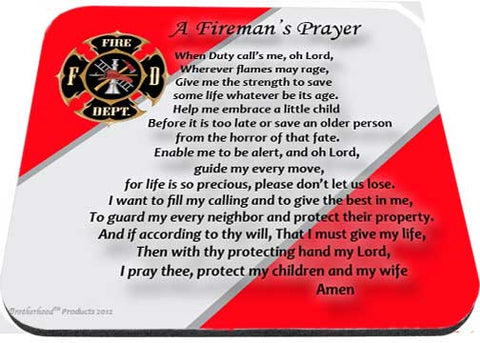 A Fireman's Prayer Maltese Cross Mouse Pad