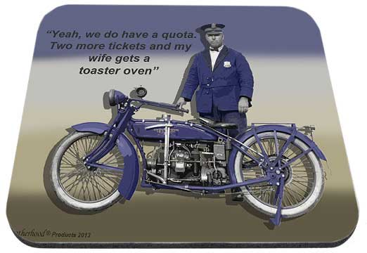 Motorcycle Cop We Do Have A Quota Mouse Pad