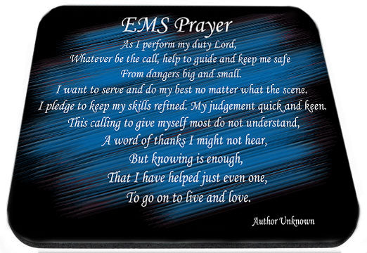 EMS Prayer Black & Blue Mouse Pad