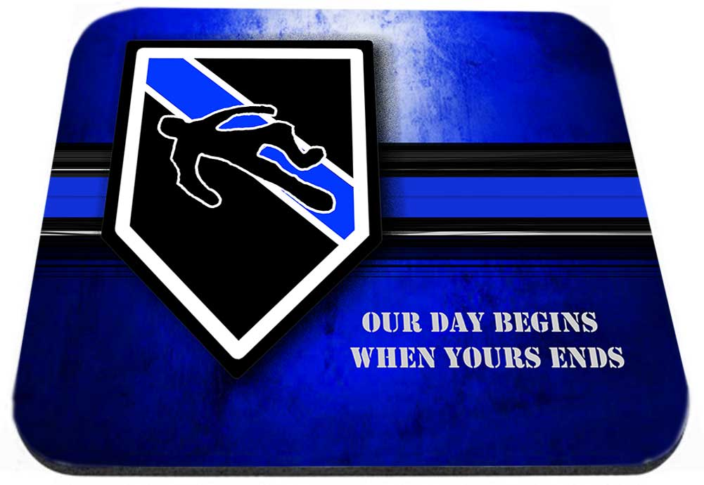 Thin Blue Line Homicide Our Day Begins When yours Ends Mouse Pad