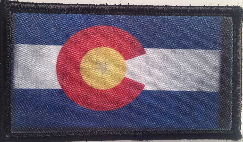 Colorado State Flag Velcro Patch - PACKAGE OF 4