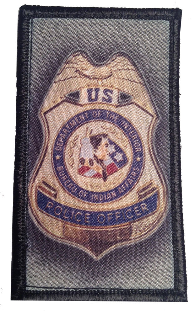 U.S. Department of the Interior Bureau of Indian Affairs Badge Velcro Patch - PACKAGE OF 4