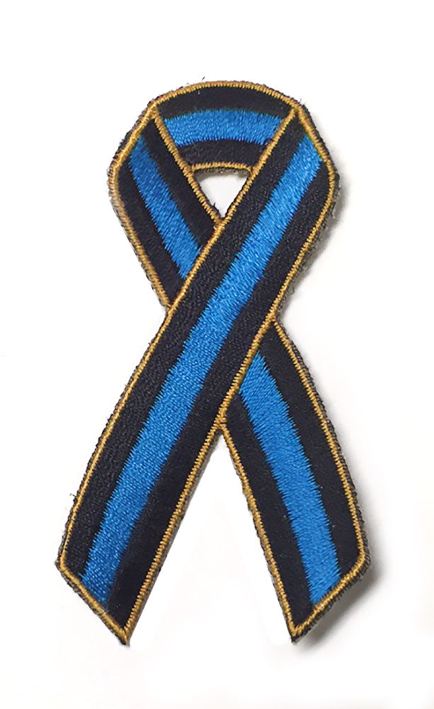 Thin Blue Line Ribbon Patch - PACKAGE OF 4