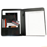 Thin red line firefighter leather like memo pad holder debossed Maltese cross on outside