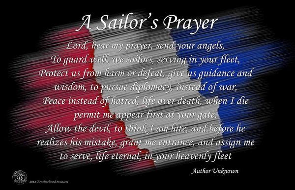 A US Navy  Sailor's Prayer Poster (11 x 17) (24 x 36)