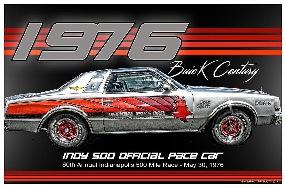 1976 Buick Century Indy 500 Official Pace Car Poster (11 x 17)