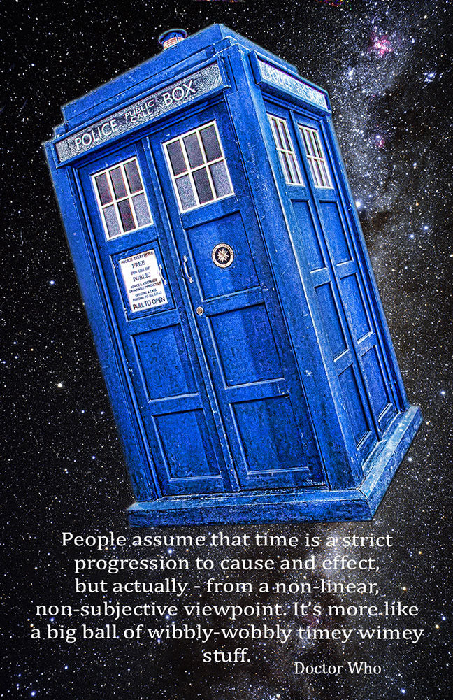 "Dr. Who Time Is A Big Ball of Wibbly Wobbly Timey Winey Stuff Poster (11"" x 17"")"