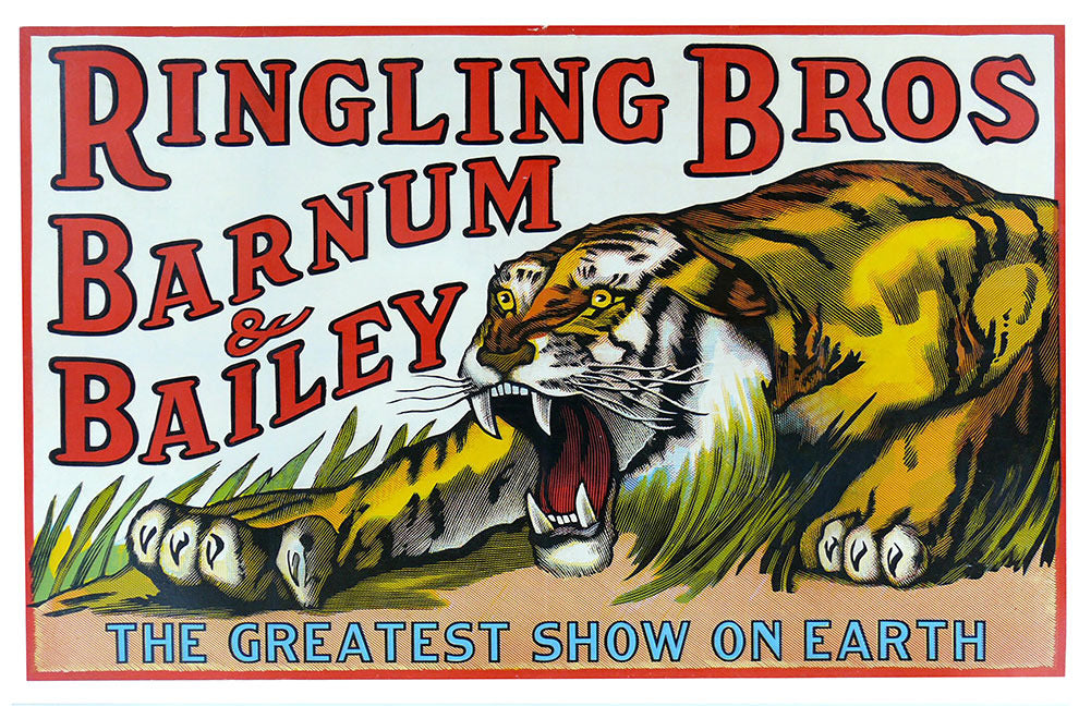 Ringling Bros Barnum & Bailey The Greatest Show On Earth Tiger Poster (11 x 17)