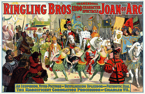 Ringling Bros Joan of Arc Poster (11 x 17)