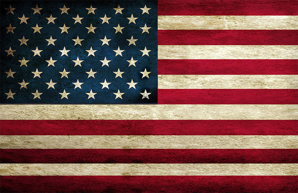 "Distressed American Flag Poster (11 x 17) (24"" x 36)"