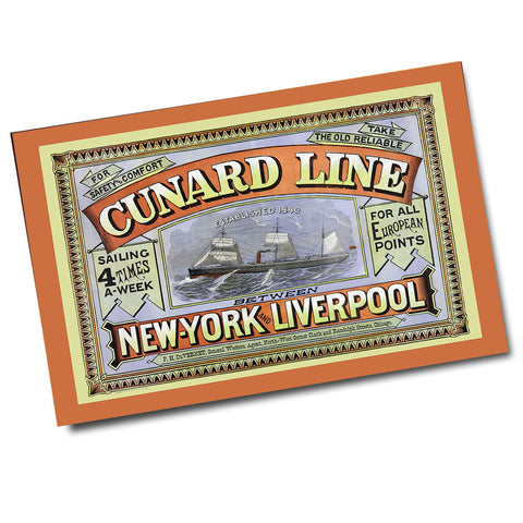 Vintage Cunard Line New York to Liverpool Ad Poster (11 x 17)