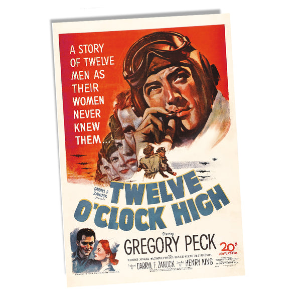 US Army in Twelve O'clock High Starring Gregory Peck Movie Poster 11x17 or 24x36