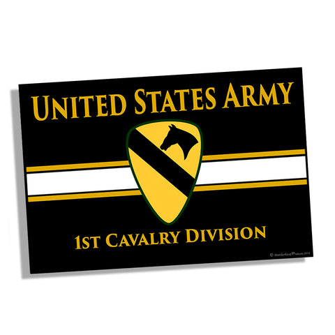 United States Army 1st Cavalry Division The First Team Poster 11x17 or 24x36