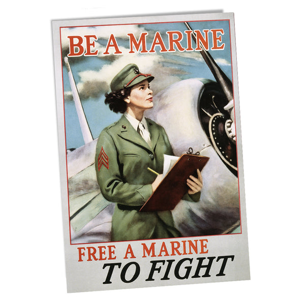 United States Marine Corps Women Marines Free a Marine To Fight Poster 24x36 or 11x17