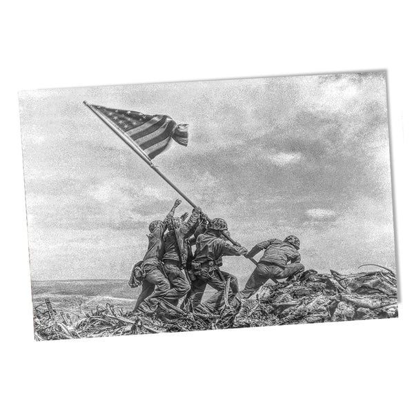 United States Marine Corps Raising the American Flag on Iwo Jima Poster 24x36 or 11x17