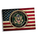 United States Army Seal Over An American Flag Design Poster 11x17 or 24x36