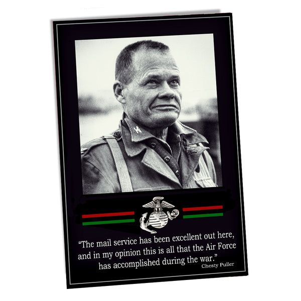 United States Marine Corps Colonel Chesty Puller Air Force Accomplishment Poster 24x36 or 11x17