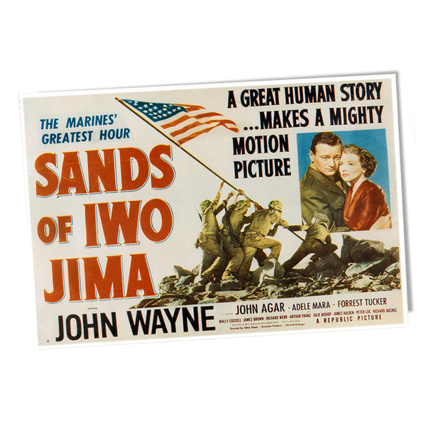 United States Marine Corps In Sands of Iwo Jima John Wayne Poster 24x36 or 11x17