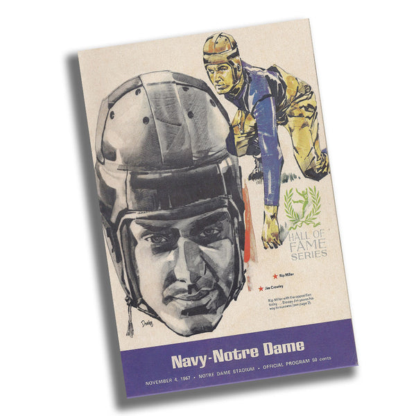 Navy vs Notre Dame 1967 Game Program at Notre Dame Stadium Poster 11x17 or 24x36