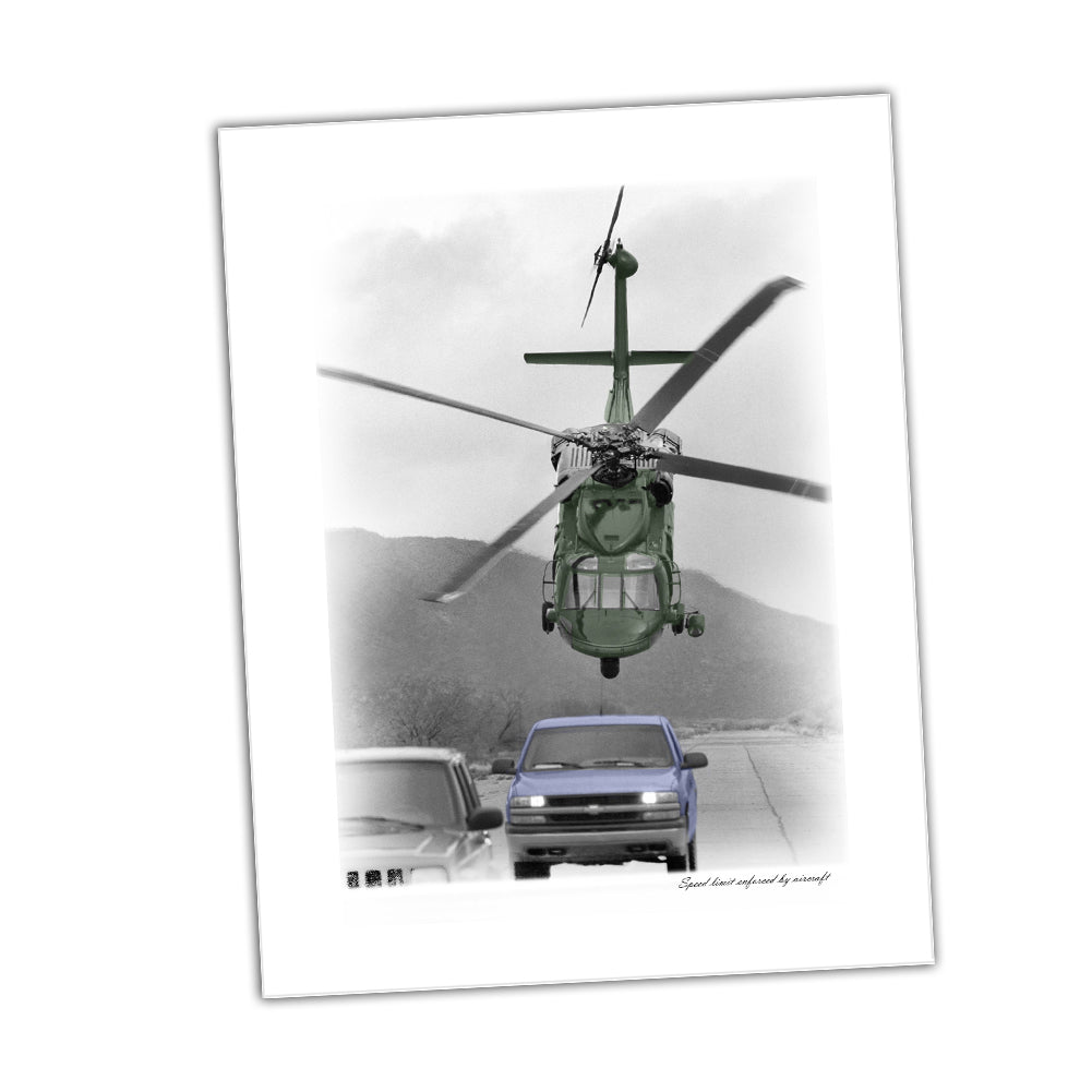 United States Army Helicopter Speed Limit Enforced by Aircraft Glossy Print