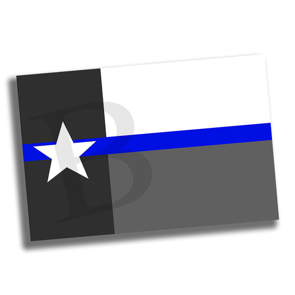 Great State of Texas Subdued Thin Blue Line Law Enforcement Poster 24x36 or 11x17