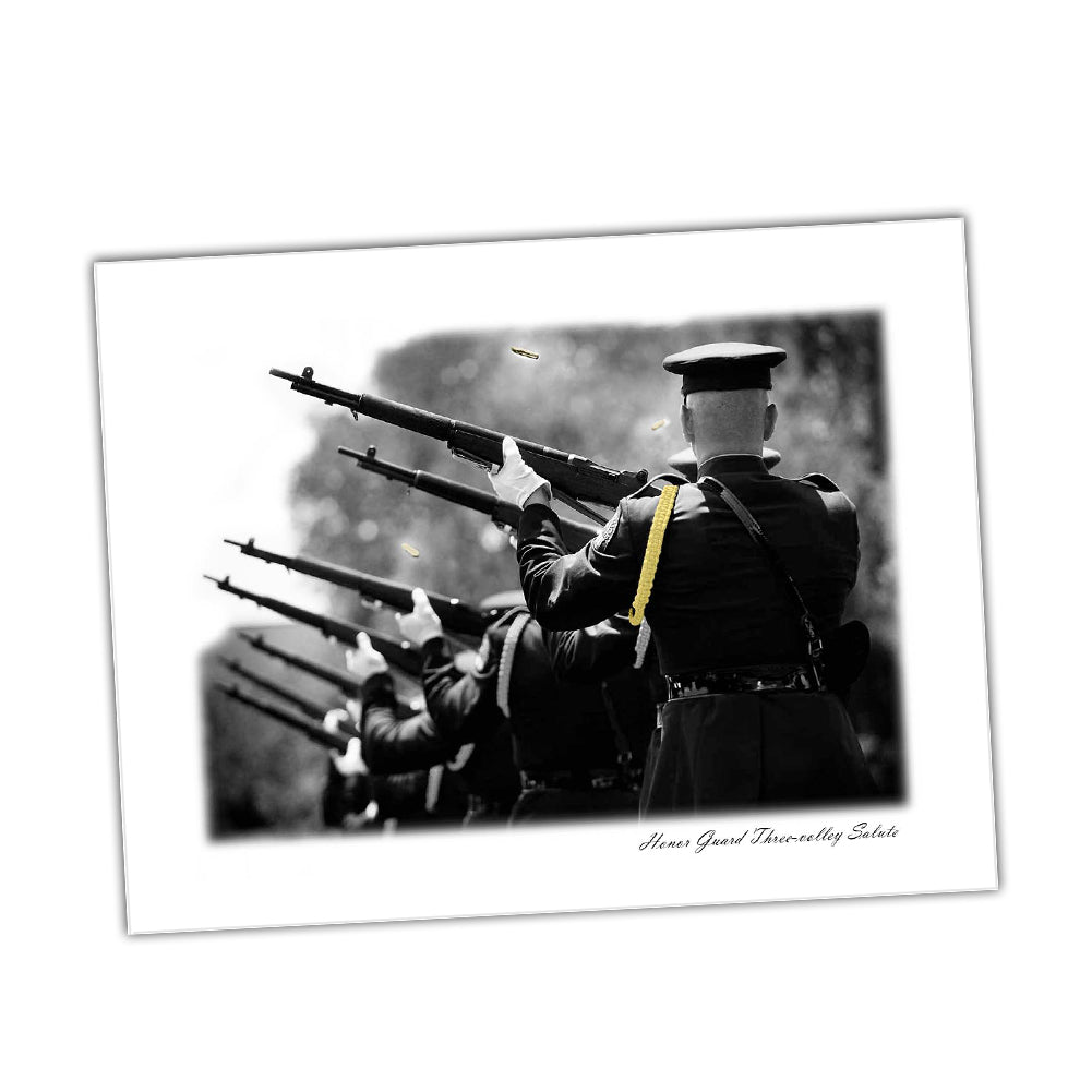 United States Army Honor Guard Three Volley Salute Glossy Print