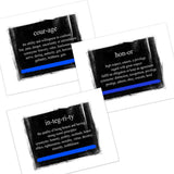Honor, Integrity, Courage Definition Thin Blue Line Glossy Print