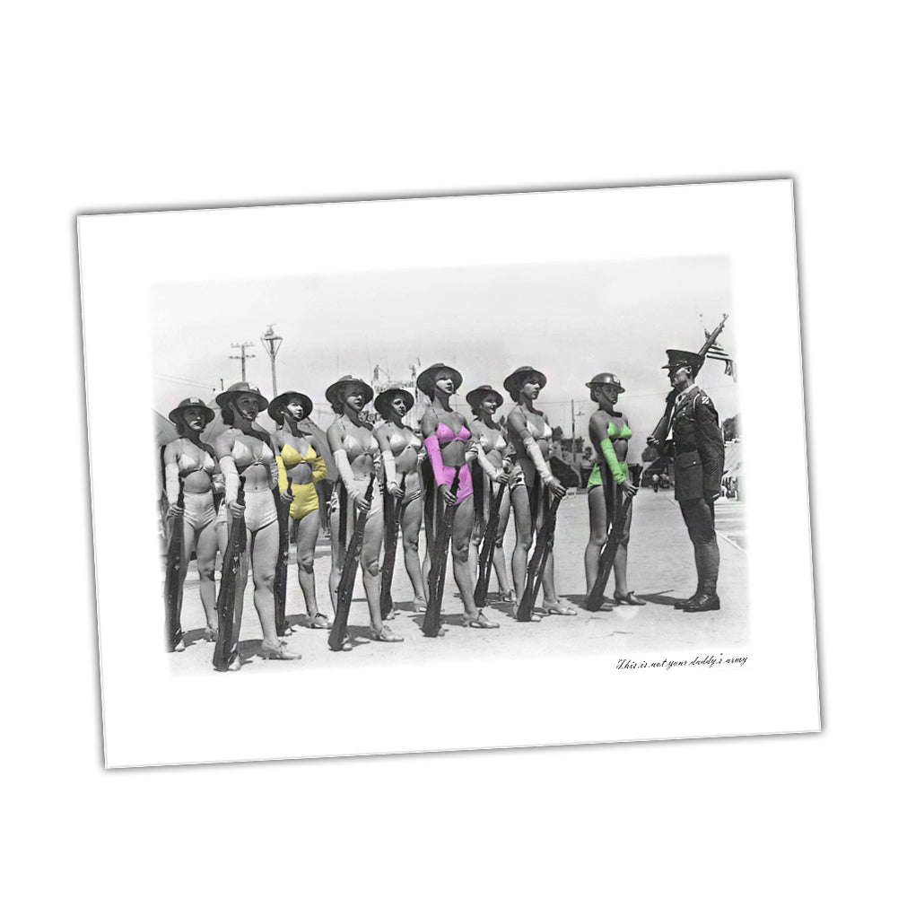 United States Army This Is Not Your Daddy's Army Women Recruits Glossy Print