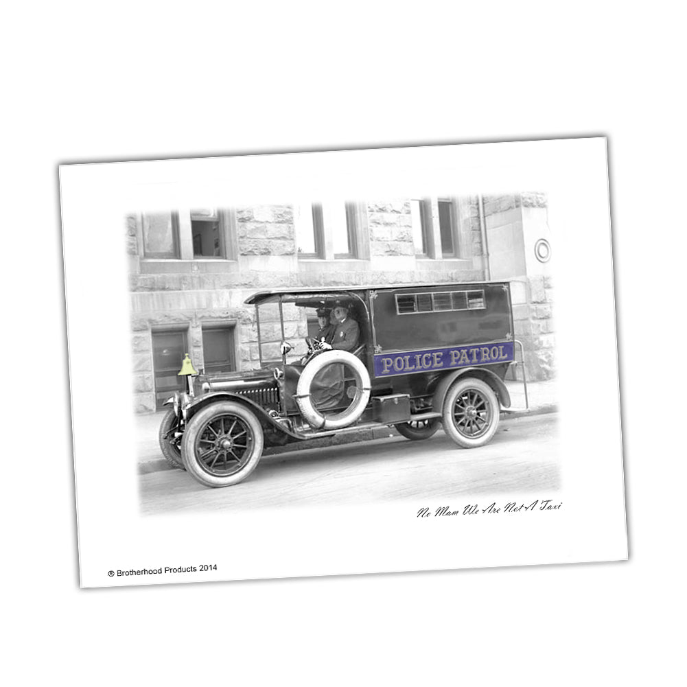 Police Print 1920's Police Officers In Police Patrol Paddy Wagon Print