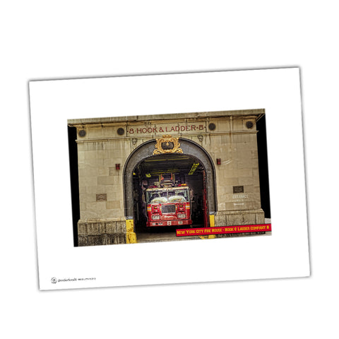 New City Fire Department Hook & Ladder Company 8 Glossy Print