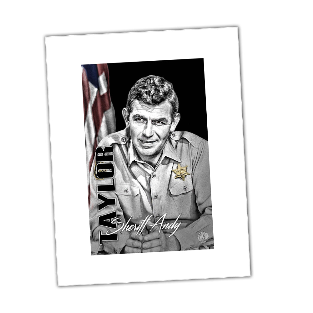 Sheriff Andy Taylor of Mayberry Sheriff Department Glossy Print