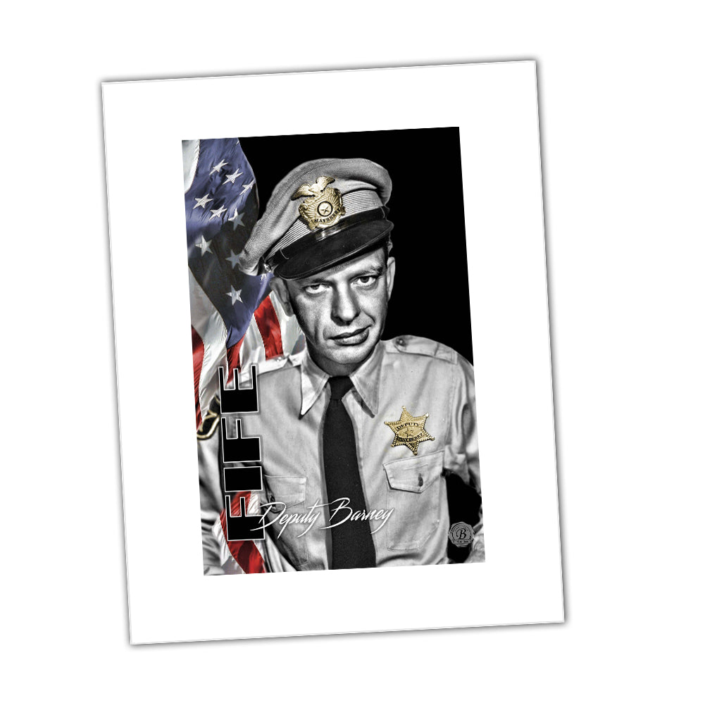 Deputy Barney Fife of Mayberry Sheriff Department Glossy Print