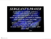 Sergeants Police Officer Prayer Print - Thin Blue Line