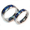 Thin Blue Line Police Ring - Silver Tungsten Carbide with Carbon Fiber Center